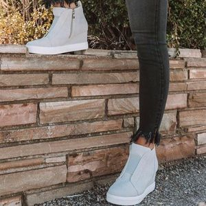 Shoes - 'The Adley' Heeled Bootie In Grey